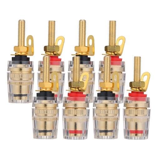 4mm Banana Plug Plaqué Or Haut-Parleur Terminal Plug Plug Colonne Reliure Basse Fréquence Amplificateur Connecteur
