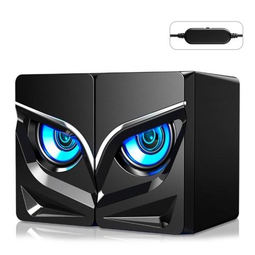 V128 Mini USB 2.1 Stereo Sound Speaker Computador Desktop Subwoofer Amplificador de Baixa Freqüência em Casa para Telefone Notebook
