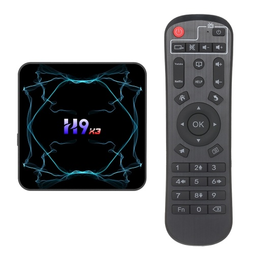 H9X3 TV Box S905X3 Quad-core 64-bit Chipset CPU Cortex-A55 Android 9.0 TV Set Top 8K HD 2.4/5G WiFi Media Player Support TF Card
