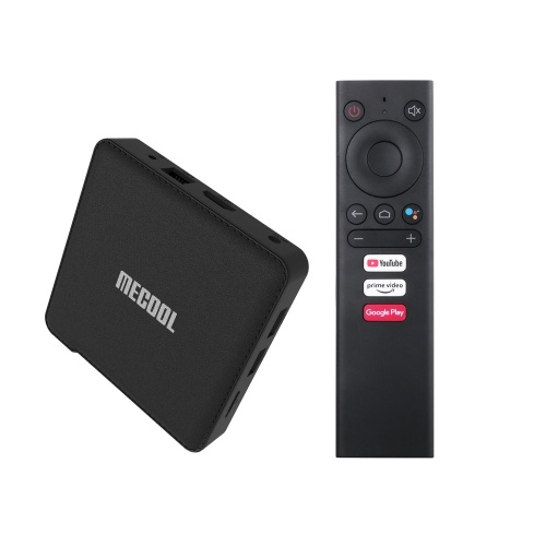 MECOOL KM1 TV Box DELUXE 4GB+32GB S905X3 Quad-core Chipset CPU Cortex-A55 Android 9.0 TV Set Top 4K HDR 2.4/5G 2T2R WiFi Media Player Support TF Card Compatible with Google Assistant