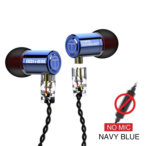 TRN M10 Wired In-ear Headphones DIY Earphones 1BA+1DD Hybrid Dynamic HIFI Earbuds Bass Running Sport Earphone With Removable Cable