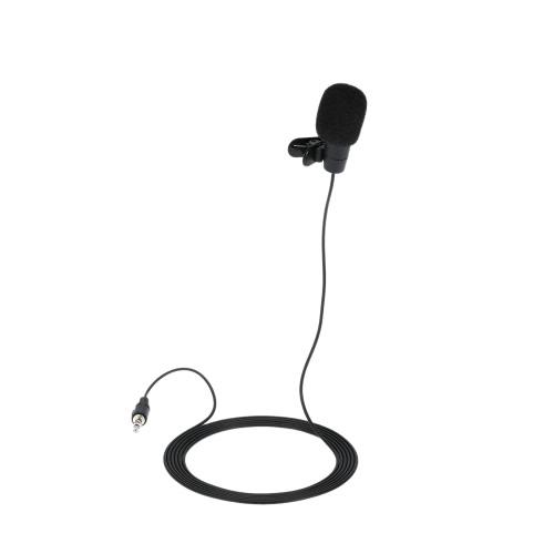 Portable colarinho tipo microfone 3,5 milímetros interface microfone de comunicação mãos-livres para todos multimídia