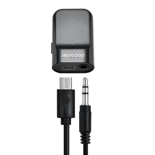 Kits Auto Docooler BT Receiver mains libres stéréo 3.5mm Récepteur de musique BT pour le streaming audio Accueil / Car Audio System Use