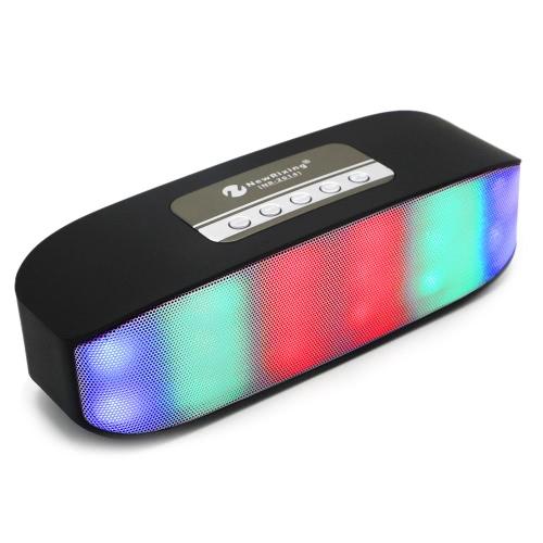 Haut-parleurs New Rixing BT Pulse Colorful Stereo LED Light Music Sound Box double magnétique Haut-parleurs de soutien U disque carte TF 3.5mm AUX IN Radio FM Mains libres w / Mic Devices pour Smart Phone Tablet Notebook Autres BT Noir