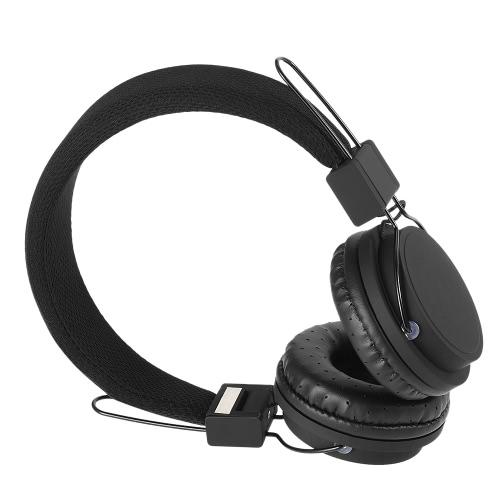 Fones de ouvido com fio On-Ear dobrável Headsets música estéreo fone de ouvido destacável 3,5 milímetros cabo de áudio com microfone para iPhone 7 6S Além disso Samsung S6 Nota 5 MP3 Notebook MP4 Laptop