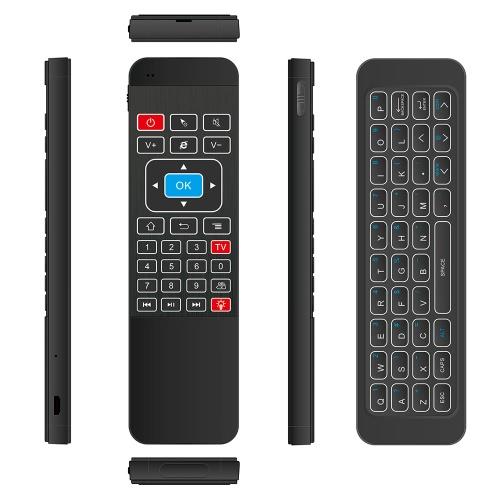 2.4G Подсветка Air Mouse Беспроводная клавиатура Пульт дистанционного управления