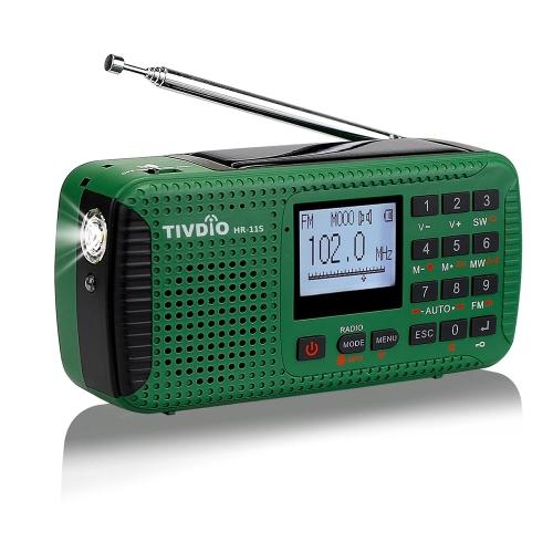 TIVDIO HR-11S Цифровое радио FM / MW / SW Многодиапазонное аварийное радио