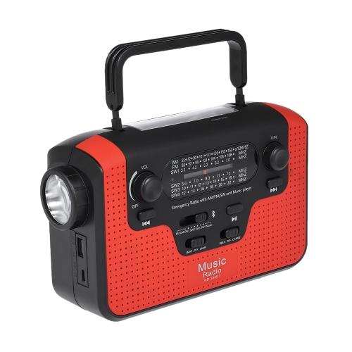RD388 Solar Energy Radio Bluetooth Musique Haut-parleur