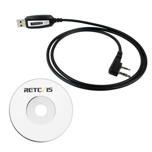 Retevis 2-контактный USB-кабель для программирования 2-проводные радиостанции Walkie Talks для BAOFENG UV5R / 888S Retevis H777 BAOFENG Kenwood KPG Kenwood TH Kenwood TK