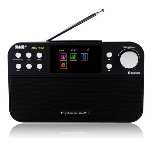 FREESAT DR-103B Portable Digital DAB + DAB FM Radio Wavebands Receiver