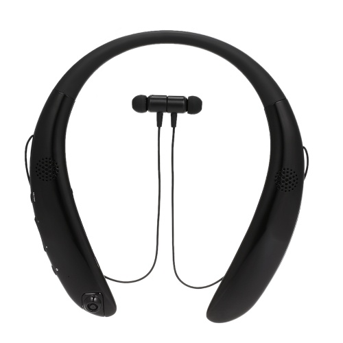 5acde4ff06 V9 Bluetooth Headphones Wireless Neckband Headset Sports Earbuds with Mic Video  Recording Camera Dual Loud Speakers