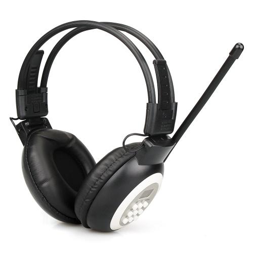 Retekess TR101 FM Headphone Radio Receiver Over Ear Wireless Headset Radio Ricevitore auricolare per la conferenza di test