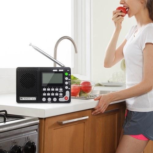 Retekess TR102 FM / AM / SW Портативное радио с таймером сна Карманный радиоприемник MP3-плеер Поддержка карт TF фото