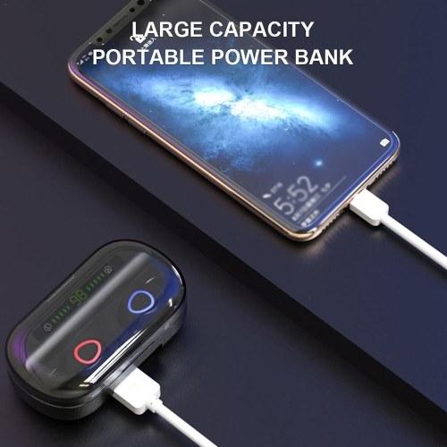 V10 Earphone BT5.0 Earbuds Dual Ear Headphone Stereo In Ear HD Headset with Charging Box