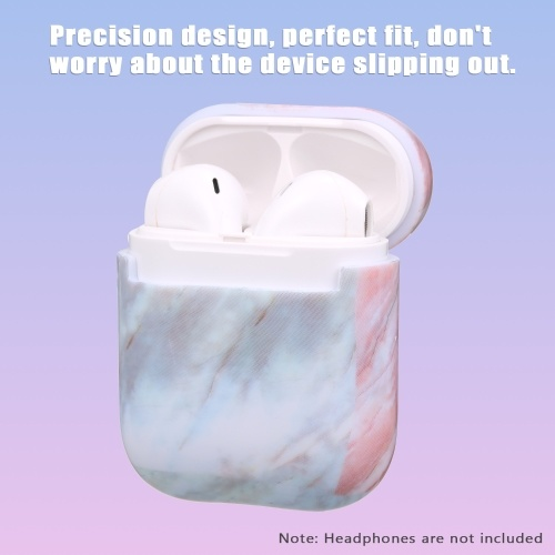 Headphone Protective Case for AirPods Hard Marble Box for Headphones Shockproof Case
