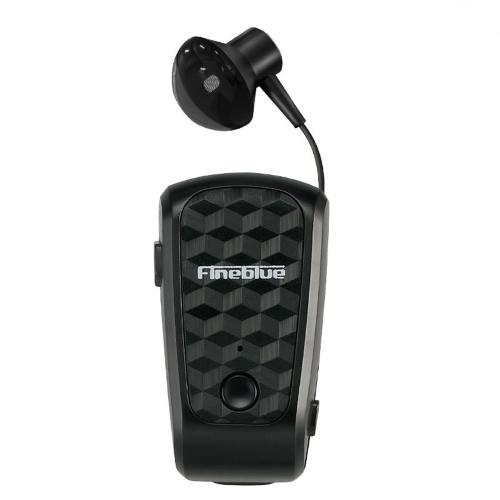 Fineblue FQ-10 Pro Bluetooth 5.0-Kopfhörer zum Aufstecken Kabelloses Kopfhörerkabel Einziehbare Ohrhörer Musik-Headsets Freisprecheinrichtung mit Mikrofon-Mehrpunktverbindung