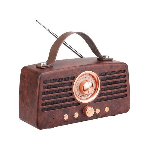 Retekess TR607 Rétro Radio FM Récepteur Lecteur MP3 Radio Stéréo BT 4.2 Haut-Parleur Portable Classique Décoration Support TF Carte AUX USB Rechargeable