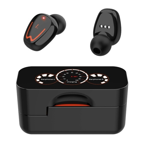 V1 HD TWS Headphones Wireless Noise Cancelling Bluetooth V5.0 Headsets Waterproof Music Sport HiFi Stereo Earphones Touch Control Earbuds