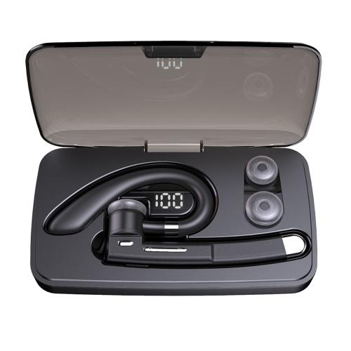 YYK-520 Business Bluetooth 5.0 Headset Drahtlose Kopfhörer Ohrbügel Kopfhörer Freisprecheinrichtung mit Mikrofon mit 500-mAh-Ladekoffer