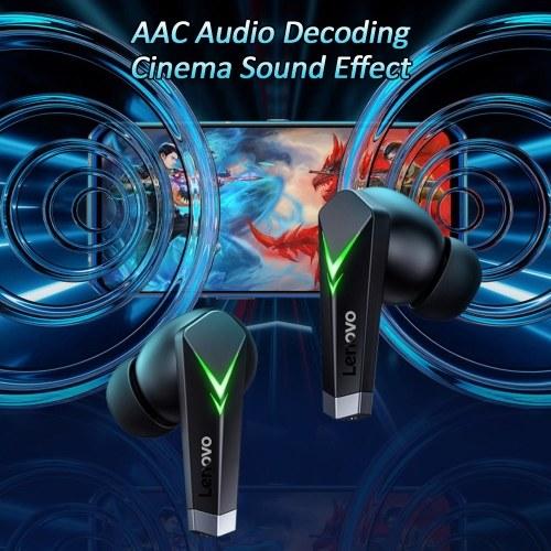 Lenovo LP6 TWS BT 5.0 Ohrhörer Gaming-Kopfhörer-Touch-Steuerung mit geringer Latenz und 300-mAh-Ladekoffer für Mikrofone