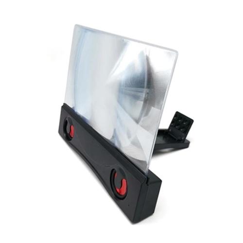 Ampliador de tela do celular de 12 polegadas Alto-falante Bluetooth Amplificador de tela do smartphone Tela do projetor Suporte dobrável para telefone compatível com todos os smartphones