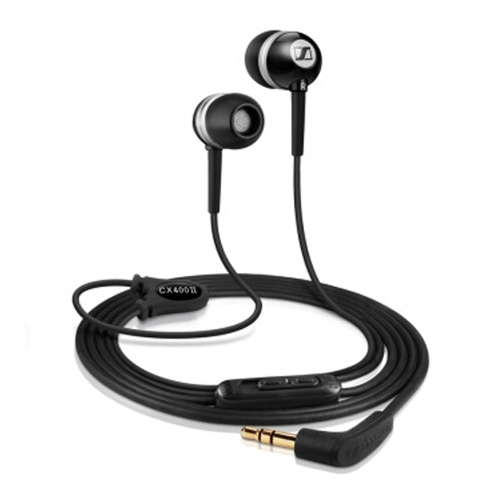 Sennheiser CX 400 - II 3.5mm Headphones Precision Bass-driven In-ear Earbuds Music Earphones Noise Cancelling Tangle-free 1.2m Cable L Bending