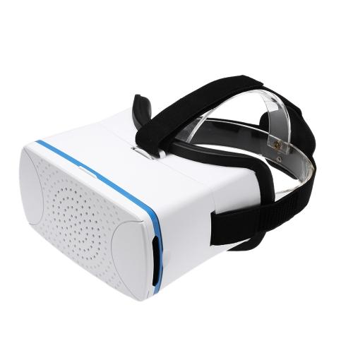 VR360 Head-Mounted Google papelão VR óculos de realidade Virtual 3D VR vídeo filmes jogos óculos 3D w / Headband branca para iPhone 6s 6 Samsung All