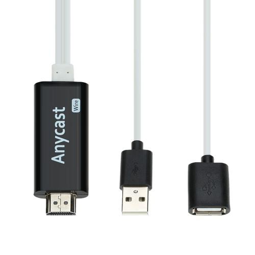 Fio de anycast i7 1080P HD adaptador para iPhone5 / 5S / 6S / 6 Plus / SE para Ipad 4 ar Mini IOS ao cabo HDTV