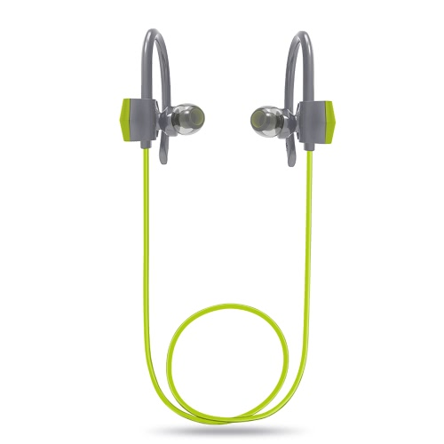 G18 Bluetooth Headphone In-ear Stereo Bluetooth 4.1 Sweat-proof Sport Headset Hands-free w/ Mic 7-Hours Talking Time 6-Hour Music Time Green for Running Gym Exercise