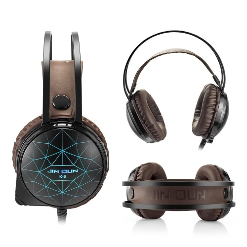 JINDUN 3.5mm Stereo PC Gaming Headphones