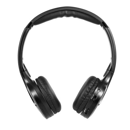IR Infrarouge Casque sans fil Casque stéréo Écouteur filaire Dual Channel pour lecteur de voiture dans la voiture