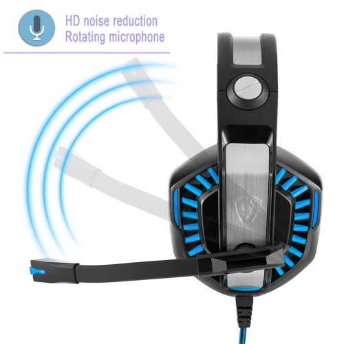 Beexcellent GM-2 Pro Over Ear Headphone Glowing Gaming Headset Surround Stereo Music Earphone with Microphone for PC Gaming Online