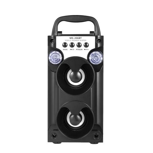Alto-falante BT Alto-falante Alto-falantes Dual 5W USB Rádio FM AUX-IN TF Card Música Reprodução de luz LED para smartphones iOS / Android