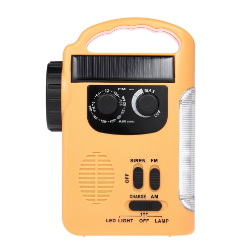 RD339 Solar Energy FM AM Radio com lanterna LED
