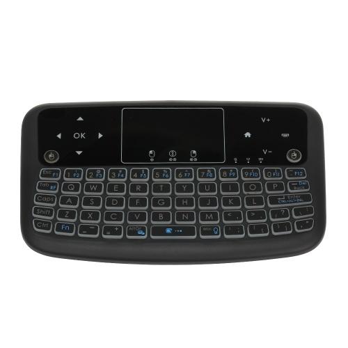 A36 Mini Wireless Keyboard 2.4GHz 4 Colori Retroilluminato Air Mouse Tastiera Touchpad per Android TV Box Smart TV PC Ricaricabile