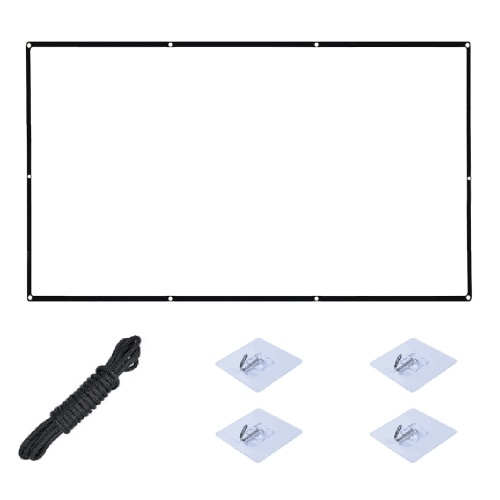 Pantalla de libro de proyector de 18.3 pulgadas Pantalla de proyección de PVC portátil Tela antiarrugas Proyector de interior al aire libre Pantalla de cine para reunión de cine en casa