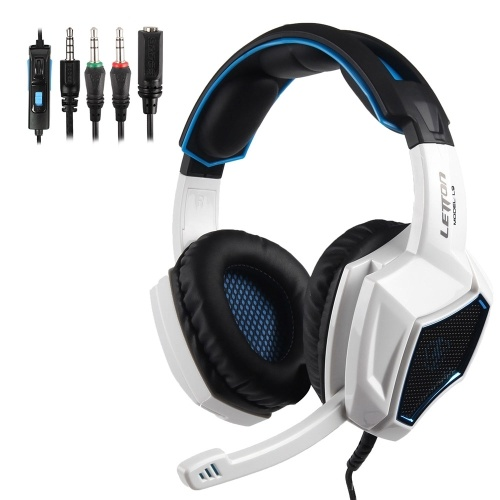 LETTON L9 Gaming Headset 3.5mm Stereo Over-Ear Headphone with Adjustable Microphone for PC Laptop Smart Phone