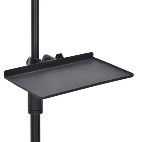 200x130 MM Bandeja de placa de som Transmissão ao vivo Suporte de rack de microfone Suporte de clipe de telefone Acessórios de dispositivos de canto