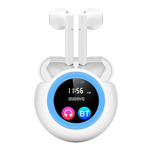 IDISKK True Wireless Earbuds MP3 Player Fone de ouvido Bluetooth 5.0 3 em 1 TWS com caixa de carregamento Cancelamento de ruído de tela de 1,3 polegadas Compatível com telefones e tablets Fones de ouvido Fone de ouvido Music Player com cartão de memória