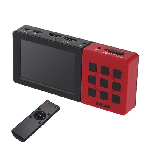 Ezcap 273A HD Коробка видеорегистратора Коробка видеорегистратора Портативная коробка захвата игры с 3,5-дюймовым ЖК-экраном 1080P 60fps Устройство захвата игры