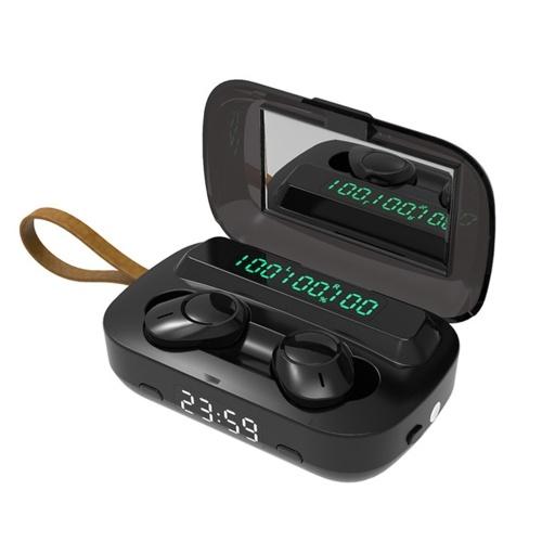 マイクスポーツヘッドセット付きBluetooth 5.1 TWSイヤホンタッチコントロール音楽イヤフォン