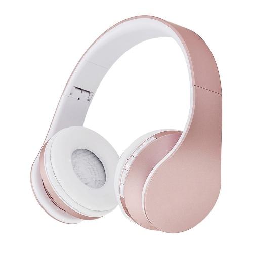 Andoer BT Cuffie Stereo senza fili BT 4.1 Auricolare 3,5 mm Auricolare cablato Lettore MP3 Radio FM Vivavoce con microfono