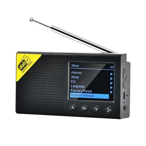 Портативный 2,4-дюймовый ЖК-экран со стереовыходом для дома и офиса DAB цифровое радио Беспроводная технология BT 5.0 Цифровое радио