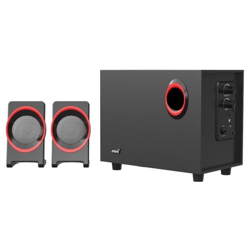 SADA SL-8018 Настольный компьютерный динамик Super Bass Subwoofer 3.5mm Проводной Soundbox Домашние динамики с питанием от USB 25 Гц-20 кГц пыленепроницаемость