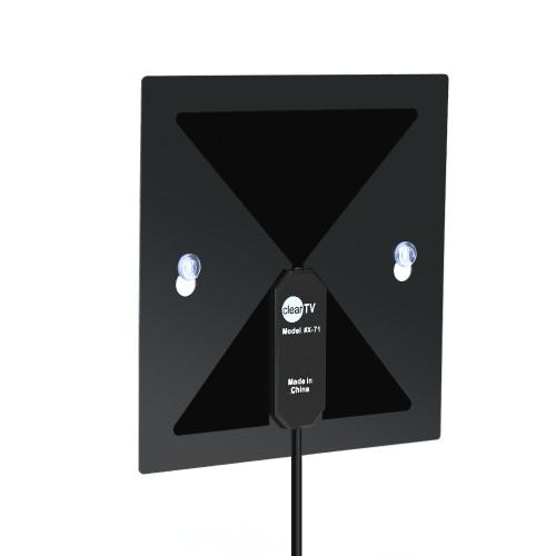 X-71 Indoor Antenne TV numérique haute définition Antenne TV Accueil avec Sucker 450-860MHz F Connecteur mâle uniquement pour États-Unis pour la TVHD / TVN