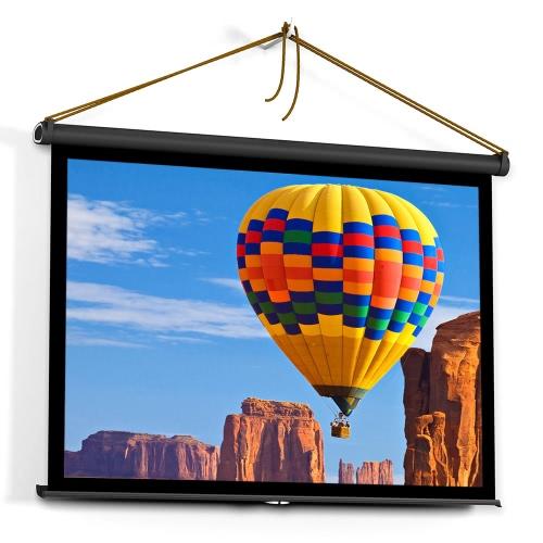 40 polegadas HD projeção manual de tela Pull Up Folding Tabletop Projectar tela Relação de aspecto 4: 3 portátil tela de projeção para DLP Projector Handheld