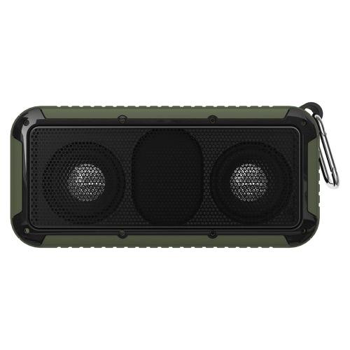 Nouveau Bee NB-S1 Haut-parleur BT extérieur CSR 4.0 Boîte à sonnerie étanche / antichoc / anti-poussière AUX IN Vert mains libres