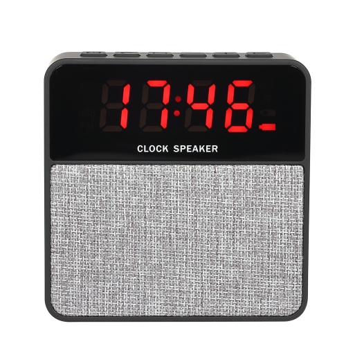 Portátil Alto-falante Bluetooth Alto-falante Altifalante Alto-falante multifuncional Display LCD Despertador TF Card Line-in Radio FM