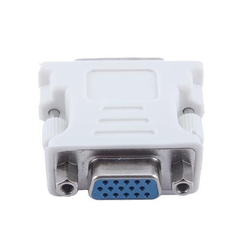 DVI-I 24 + 5 Broches DVI Mâle à VGA Femelle Vidéo Convertisseur HD Adaptateur pour PC portable HDTV LCD DVD Ordinateur Graphique Projecteur