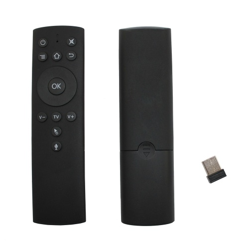 2.4GHz Fly Air Mouse Wireless Remote Control w/ Voice Control 6-axis Motion Sensing IR Learning with USB Receiver Adapter for Smart TV Android TV Box Projector